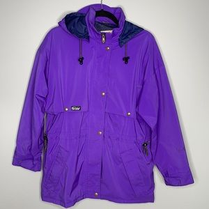 Vintage Far West Gore-Tex purple weather proof trail removable hooded jacket M